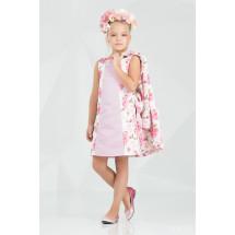 """Комплект розового цвета платье и пальто """"Брайт лук"""""""