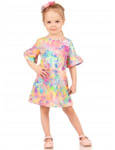 """Платье для девочек яркой расцветки """"Краски радуги"""""""