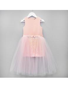 """Платье нарядное персиковое со шлейфом """"Микела"""""""