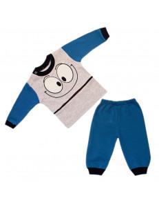 Комплект синий на малышей смайлик